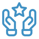 hands and star icon
